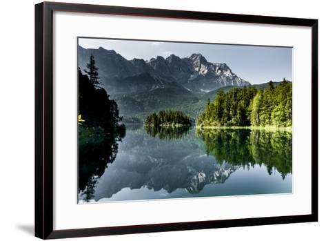 Lake Eibsee with 'Zugspitze'--Framed Art Print