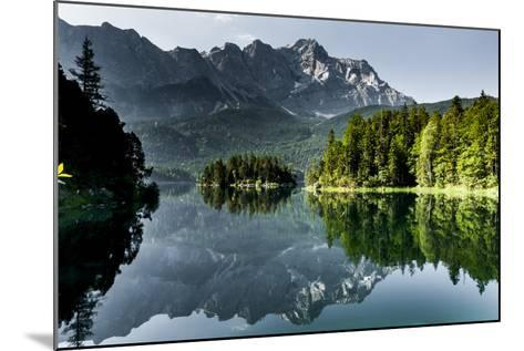 Lake Eibsee with 'Zugspitze'--Mounted Photographic Print