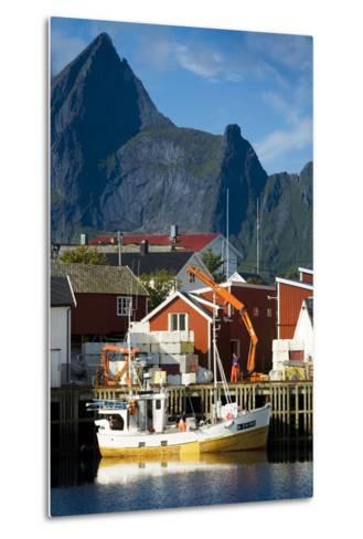 Scandinavia, Norway, Lofoten, Moskenesoey, Hamnoy-Rainer Mirau-Metal Print