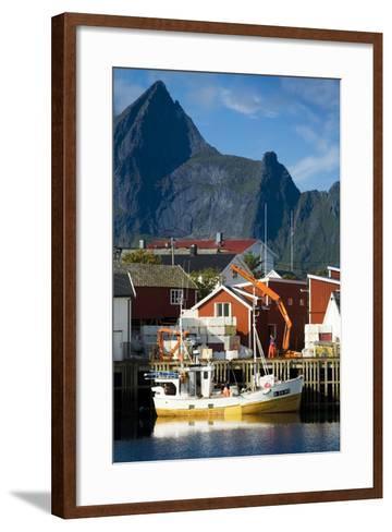 Scandinavia, Norway, Lofoten, Moskenesoey, Hamnoy-Rainer Mirau-Framed Art Print