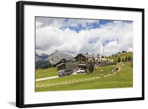 La Marmotta' (Alpine Hut), in the High Route of 'Marentas', Dolomites, South Tyrol, Italy, Europe-Gerhard Wild-Framed Art Print