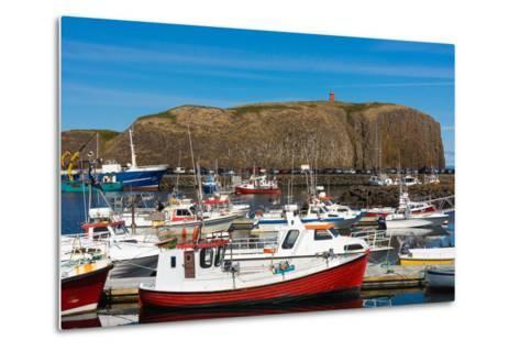 Stykkisholmur, Peninsula Snaefellsnes, Harbour-Catharina Lux-Metal Print