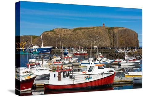 Stykkisholmur, Peninsula Snaefellsnes, Harbour-Catharina Lux-Stretched Canvas Print