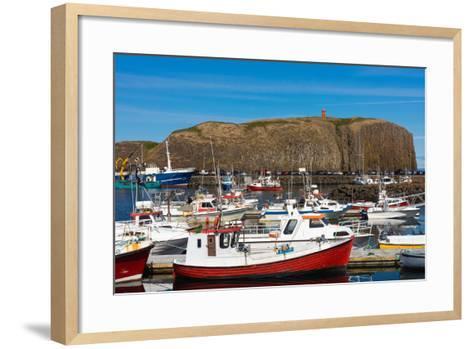 Stykkisholmur, Peninsula Snaefellsnes, Harbour-Catharina Lux-Framed Art Print