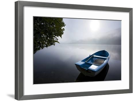 Scandinavia, Norway, Oppheimsvatnet Lake, Rowboat, Fog, Landscape-Rainer Mirau-Framed Art Print