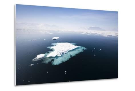 Norway, Storfjord, Drift Ice-Frank Lukasseck-Metal Print