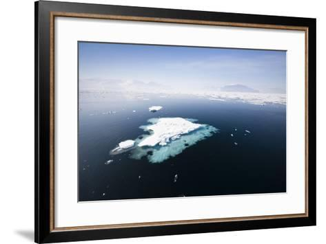 Norway, Storfjord, Drift Ice-Frank Lukasseck-Framed Art Print