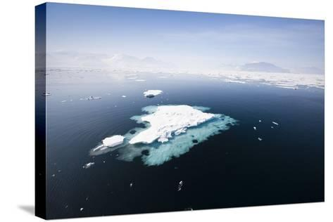 Norway, Storfjord, Drift Ice-Frank Lukasseck-Stretched Canvas Print