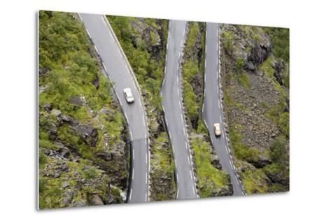 Scandinavia, Norway, Troll-Steep Track, Mountain-Passport, Serpentine, Streets-Course-Rainer Mirau-Metal Print