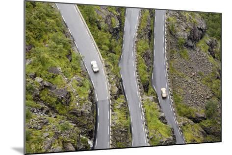 Scandinavia, Norway, Troll-Steep Track, Mountain-Passport, Serpentine, Streets-Course-Rainer Mirau-Mounted Photographic Print