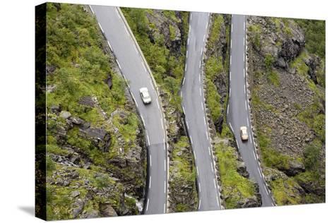 Scandinavia, Norway, Troll-Steep Track, Mountain-Passport, Serpentine, Streets-Course-Rainer Mirau-Stretched Canvas Print