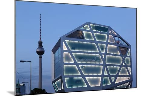Germany, Berlin, Humboldt Box, Illuminated, Television Tower, Dusk-Catharina Lux-Mounted Photographic Print