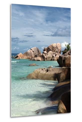 The Seychelles, La Digue, Beach, Anse Coco-Catharina Lux-Metal Print