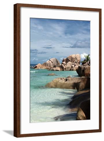 The Seychelles, La Digue, Beach, Anse Coco-Catharina Lux-Framed Art Print