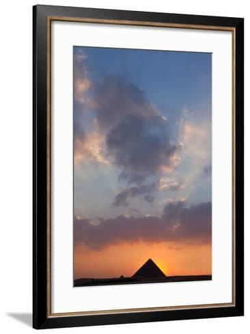 Egypt, Cairo, Pyramids of Giza, Sunset-Catharina Lux-Framed Art Print