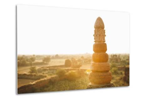 Sunrise over Ancient Temples of Bagan, Myanmar-Harry Marx-Metal Print
