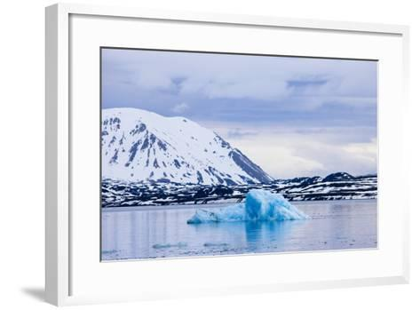 Norway, Spitsbergen, Tinayra Bukta, Rock Coast, the Atlantic, Iceberg-Frank Lukasseck-Framed Art Print