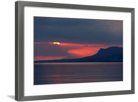 Greece, Crete, Libyan Sea, Sunset-Catharina Lux-Framed Art Print