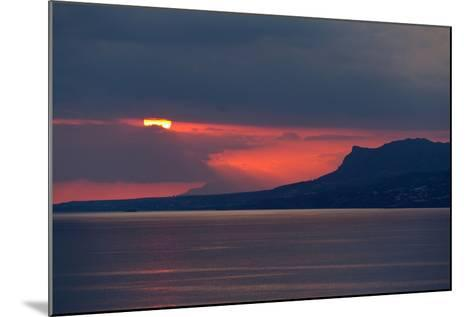 Greece, Crete, Libyan Sea, Sunset-Catharina Lux-Mounted Photographic Print