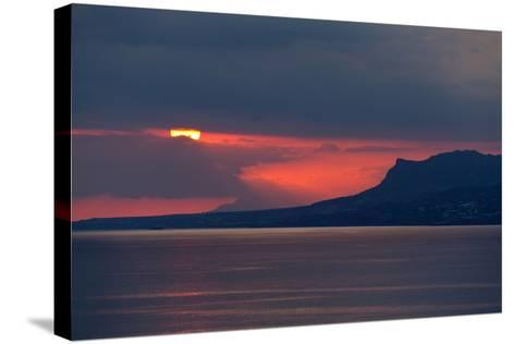 Greece, Crete, Libyan Sea, Sunset-Catharina Lux-Stretched Canvas Print