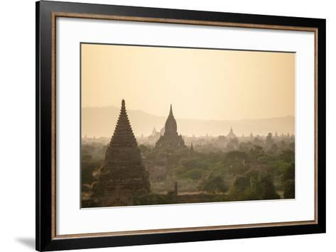 Sunrise over Ancient Temples of Bagan, Myanmar-Harry Marx-Framed Art Print