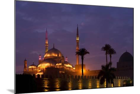 Egypt, Cairo, Landmark, Citadel with Mohamad Ali Mosque, Dusk-Catharina Lux-Mounted Photographic Print