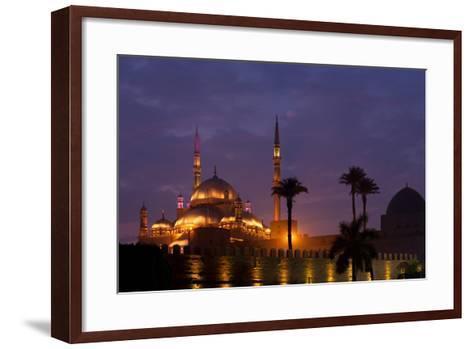 Egypt, Cairo, Landmark, Citadel with Mohamad Ali Mosque, Dusk-Catharina Lux-Framed Art Print