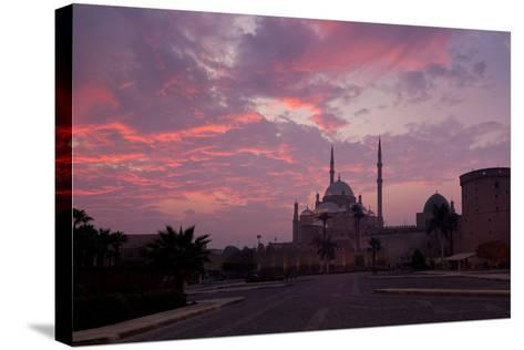 Egypt, Cairo, Landmark, Citadel with Mosque of Muhammad Ali, Dusk-Catharina Lux-Stretched Canvas Print