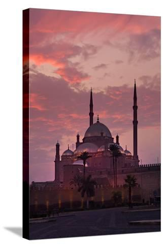 Egypt, Cairo, Landmark, Citadel with Mohamad Ali Mosque, Dusk-Catharina Lux-Stretched Canvas Print