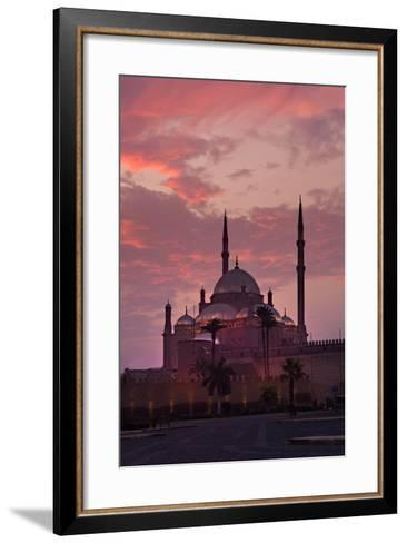 Egypt, Cairo, Landmark, Citadel with Mohamad Ali Mosque, Dusk-Catharina Lux-Framed Art Print