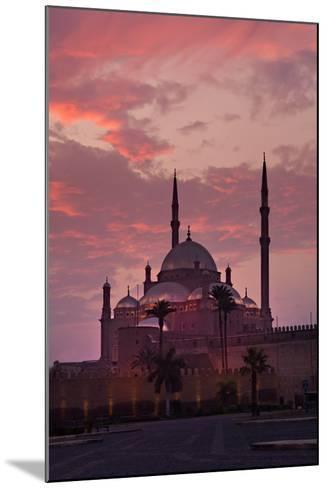 Egypt, Cairo, Landmark, Citadel with Mohamad Ali Mosque, Dusk-Catharina Lux-Mounted Photographic Print