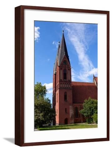 Germany, Brandenburg, Oder-Neisse Cycle Route, Frankfurt / Oder, Gertraudenkirche-Catharina Lux-Framed Art Print