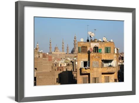 Egypt, Cairo, View from Mosque of Ibn Tulun on Old Town Facades-Catharina Lux-Framed Art Print