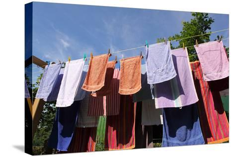 Farm, Clothesline, Towels-Catharina Lux-Stretched Canvas Print