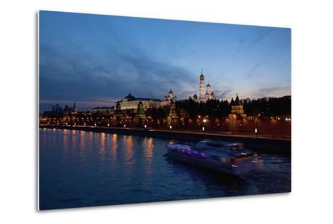 Moscow, Kremlin, View from the Moskva Shore, at Night-Catharina Lux-Metal Print