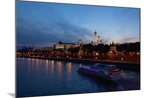 Moscow, Kremlin, View from the Moskva Shore, at Night-Catharina Lux-Mounted Photographic Print