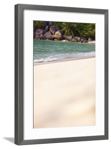 Dream Beach, Indian Ocean, Seychelles, Sand, Water, Granite Rocks-Harry Marx-Framed Art Print