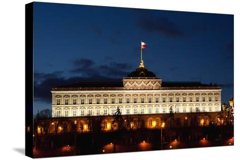 Moscow, Kremlin, Grand Kremlin Palace, at Night-Catharina Lux-Stretched Canvas Print