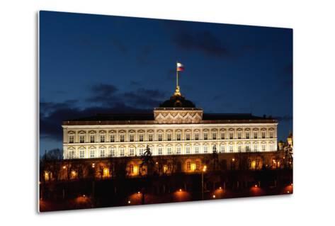 Moscow, Kremlin, Grand Kremlin Palace, at Night-Catharina Lux-Metal Print