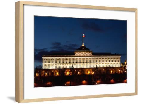 Moscow, Kremlin, Grand Kremlin Palace, at Night-Catharina Lux-Framed Art Print