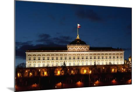 Moscow, Kremlin, Grand Kremlin Palace, at Night-Catharina Lux-Mounted Photographic Print