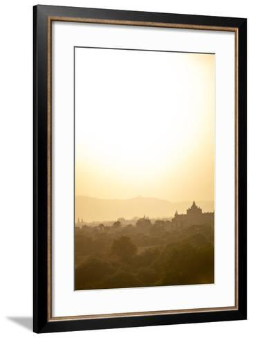 Sunrise over Ancient Temples of Bagan, Myanmar-Harry Marx-Framed Art Print