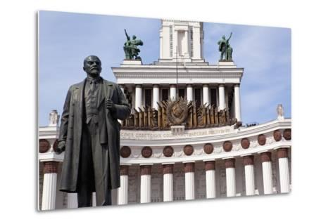 Moscow, All-Union Exhibition, House of the Russian People, Lenin Monument-Catharina Lux-Metal Print