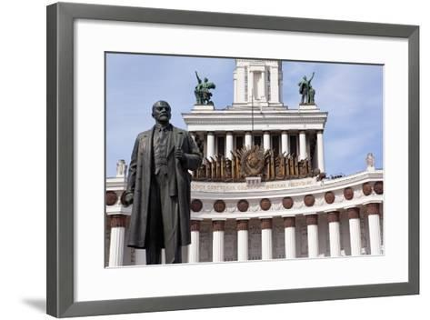Moscow, All-Union Exhibition, House of the Russian People, Lenin Monument-Catharina Lux-Framed Art Print