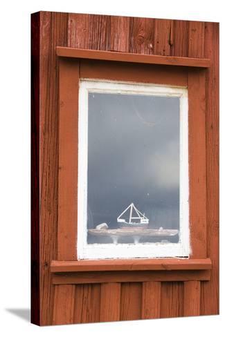 Fishing Hut, Detail, Window, Ship Model-Frank Lukasseck-Stretched Canvas Print