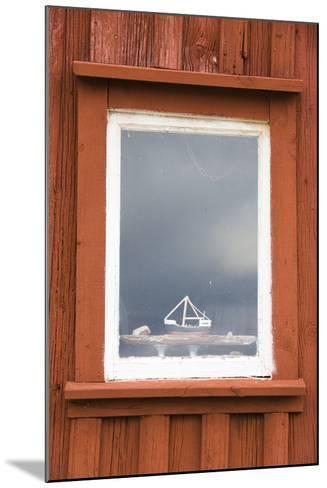 Fishing Hut, Detail, Window, Ship Model-Frank Lukasseck-Mounted Photographic Print