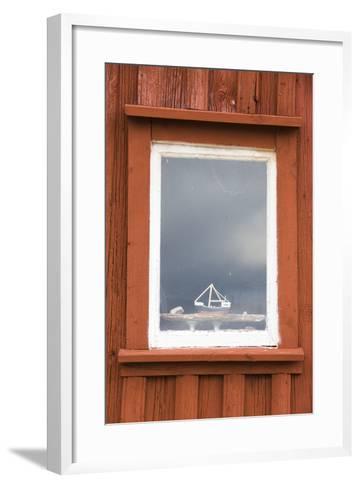 Fishing Hut, Detail, Window, Ship Model-Frank Lukasseck-Framed Art Print