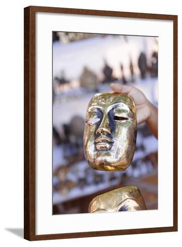 Traditional Burmese Mask in Bagan, Myanmar-Harry Marx-Framed Art Print