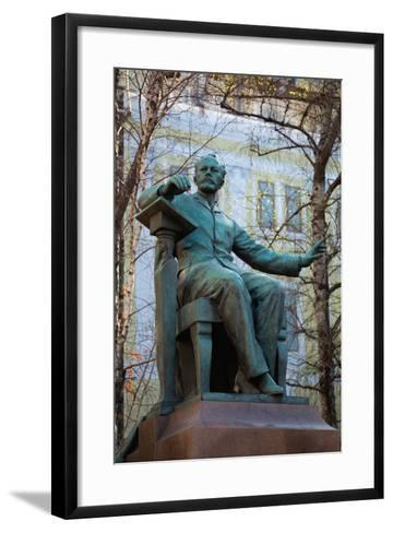 Moscow, Conservatoire, Tchaikovsky Monument-Catharina Lux-Framed Art Print