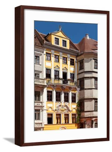 Germany, Saxony, Gšrlitz, Untermarkt, Baroque Facade-Catharina Lux-Framed Art Print